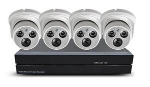 Внутрений комплект видеонаблюдения 720Р на 4 камеры